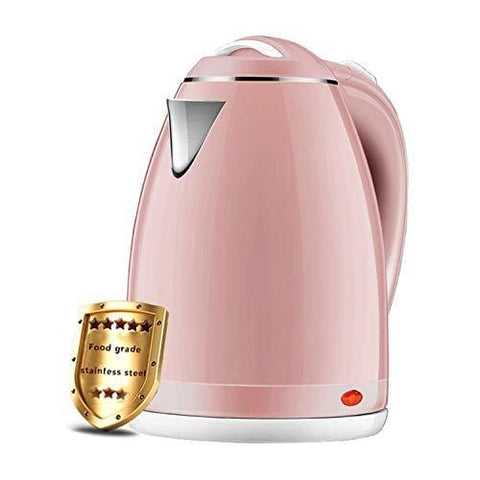 Kettle -Zheshen Electric Jug Kettle 1.8 Litres - Quick Boil- Auto Shut Off- Boil Dry Protection & Cool Touch Feeling (Pink)
