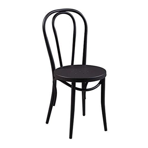 Kitchen Dining Chair - Bentwood Style Metal - Curvy Classic Design- Indoor And Outdoor Use - Very Strong And Durable.