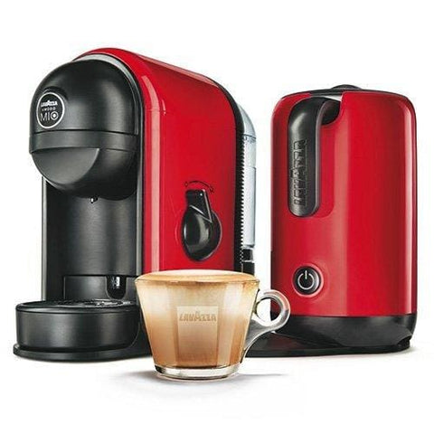 Lavazza 10080949 A Modo Mio Espresso Coffee Maker Machine - With Milk Frother Minu Red