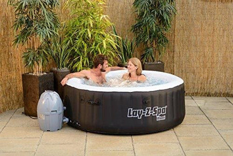 Lay-Z-Spa 54123-Bnnx16Ab02 Miami Hot Tub Airjet Inflatable Spa 2-4 Person - Black