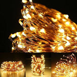 Le 20M 200 Led String Light Waterproof Copper Wire Fairy Starry Lights Firefly Lights Warm White Garden Patio Party Valentines Day Wedding