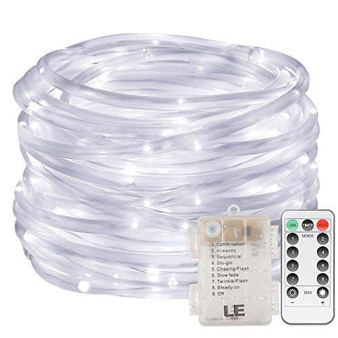 Le Led Dimmable Rope Lights 10M 120 Leds Waterproof 8 Modes Battery Powered String Lights For Garden Patio Party Christmas Outdoor