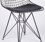 Lmc Charles Eiffel Dkr Inspired Tulip Black Metal Wire Mesh Dining Chair Restaurant