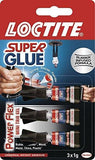 Loctite 1885734 Super Glue Mini Trio Power Flex Gel - Transparent 3 X 1G