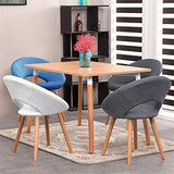 Mctech 2 Dining Room/kitchen/office Chairs  With Arms  Oak Legs  Solid Wood Type D Grey