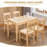 Mecor Dining Table And Chairs Set 4 Classical Solid Pine White/honey Kitchen Dining Room Furniture