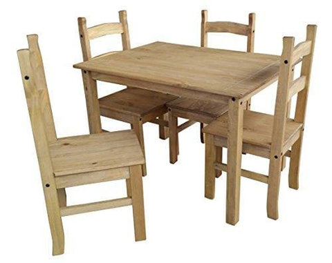 Mercers Furniture Corona Budget Dining Table And 4 Chairs - Pine