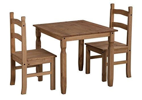 Mercers Furniture Corona Rio Dining Table And 2 Chairs - Pine