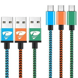 Micro Usb Cables 2M/6.6Ft Aione Android Cable (3 Pack) Nylon Braided Usb Cable- For Samsung Nexus Lg Sony Htc Motorola Kindle Ps4 Controller