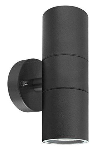 Modern Black Double Up Down Outdoor Stainless Steel Wall Light Use Gu10 Ip65