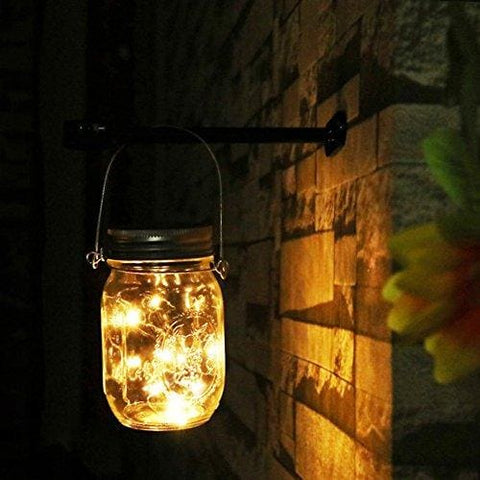 Newyang Solar Mason Jar Lights - Led Water-Proof Outdoor Fairy Lights Hanging Lights For Garden Courtyard Wedding Party Bar Cafe Christmas
