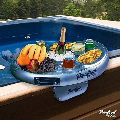Official Perfect Pools Spa Bar Inflatable Hot Tub Side Tray For Drinks And Snacks - Perfect For Pool Parties!