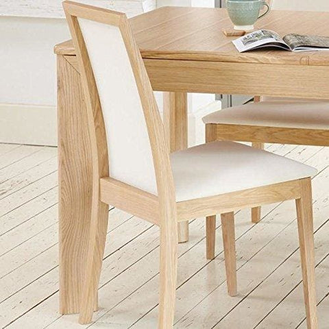 Olten Uno - Light Oak Dining Chair - Cream (Pack Of Two)