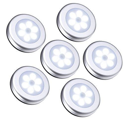 Oria 6 Pack Motion Sensor Light Cordless Battery-Powered Light Automatic Night Light With 3M Adhesive Pads Stick-Anywhere Perfect For Closet