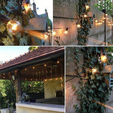 Outdoor Garden String Lights 25Ft G40 Oxyled Garden Patio Outside String Lights Waterproof Indoor/outdoor String Lights Great Garden Terrace