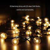 Outdoor String Lights G40 Outdoor String Light Bulbs Listed Waterproof String Lights For Indoor & Outdoor Décor Wedding Light Backyard