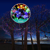 Panpany 50 Led String 22 Feet Flower Bulbs Solar Waterproof Decorative Fence Lights For Garden Patio Yard Home