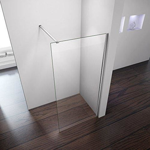 Perfect 700X1850Mm Walk In Wet Room Shower Enclosure 8Mm Easyclean Glass Shower Screen Panel + Support Bar