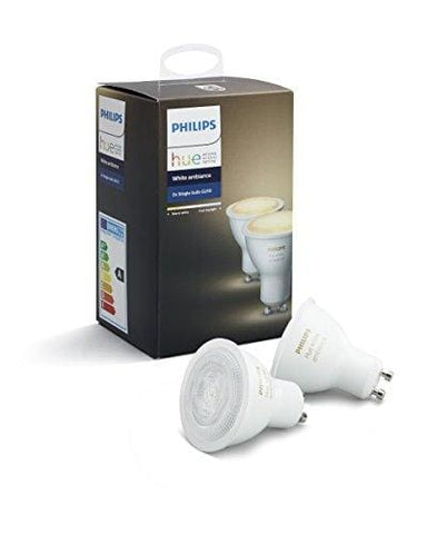 Philips Hue White Ambience Twin Pack Gu10 Dimmable Led Smart Spot Light (Compatible With Amazon Alexa Apple Homekit And Google Assistant)