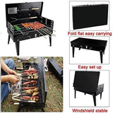 Popamazing Portable Charcoal Bbq Grill Folding Barbecue Outdoor Travel Picnic Camping Grill Racks And Tools