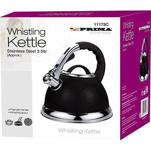 Prima 3.5 Litre Whistling Kettle Metallic Black