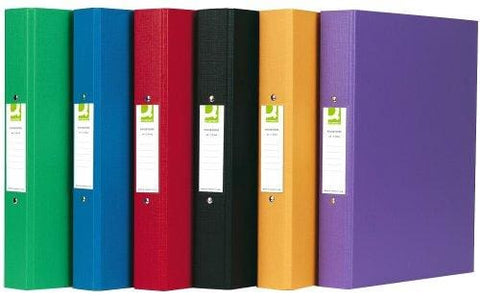 Q-Connect A4 2 Ring Binder Polypropylene - Assorted Pack Of 10