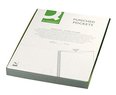 Q Connect Punched Pocket A4 50Micron (Pack Of 100)