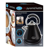 Quest 34510 Fast Boil Pyramid Shape Cordless Kettle 2200 W 1.7 Liters Black