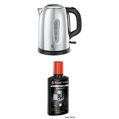 Russell Hobbs 23760 Coniston Kettle 1.7 Litre 3000 W Silver With Descaler 21220 250 Ml