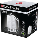 Russell Hobbs 24360 Inspire Electric Kettle 3000 W 1.7 Liters White With Chrome Accents