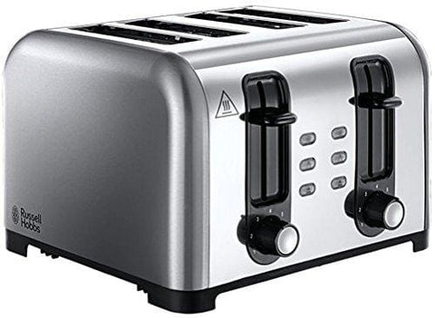 Russell Hobbs 4-Slice Wide Slot Toaster 23540 - Brushed/polished Stainless Steel