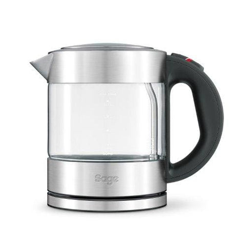 Sage Bke395Uk The Compact Glass Kettle - Silver