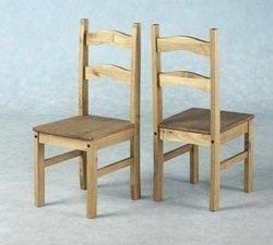 Set Of 4 X Corona Distressed Pine Dining Chairs From Centurion Pine
