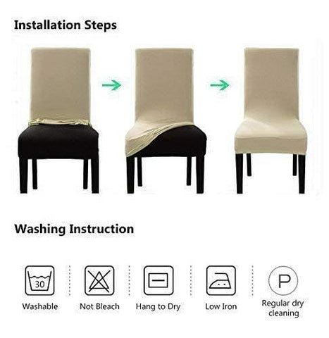 Stretch Chair Covers For Dining Room Silver Grey Set Of 4 Velvet Dining Chair Slipcovers  sc 1 st  Furniture Heaven & Stretch Chair Covers for Dining Room Silver Grey Set of 4 Velvet ...