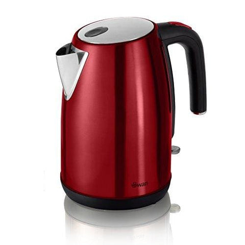 Swan Sk23030Redn Townhouse Bullet Kettle 1.7 Litre 3Kw Red