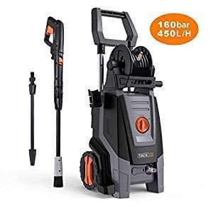 Tacklife Pressure Washer 2000W 160Bar 450 L/h Power Washer Copper Motor Pump Pressurized Hose Reel 6M High Pressure Hose Firm Spray Gun