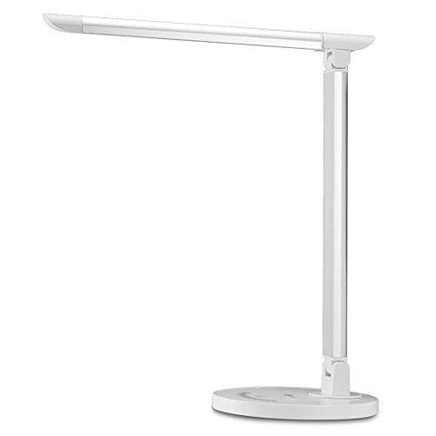 Taotronics Led Desk Lamp Eye-Caring Table Lamp Lamp With Usb Charging Port Office Lamp Touch Control 5 Color Modes White 12W