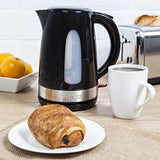Tower T10003 Cordless Jug Kettle 2200 W 1.5 Litre Elegant Gloss Black Finish With Silver Trim