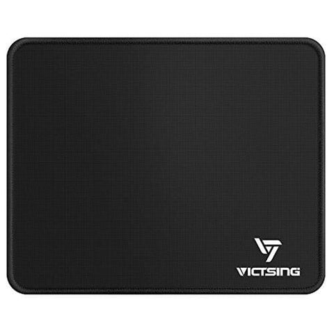 Victsing Mouse Pad Mat 260×210×2Mm With Stitched Edges Premium-Textured Surface Non-Slip Rubber Base Laser & Optical Mouse Compatible