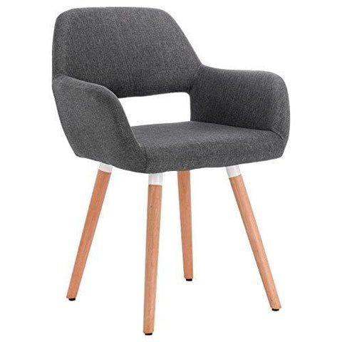 Woltu® Bh76Dgr-1 Dining Chair Kitchen Chair Living Room Chair Linen Fabric Dining Chair With Armrests And Backrest Retro Chair (1 Piece