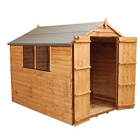 Wooden Overlap Apex Garden Shed With Double Door