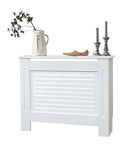 Yakoe Modern Radiator Cover Wood Mdf Wall Cabinet White/natural (White M)