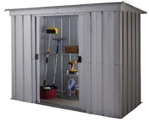 Yardmaster International 64Pz 6 X 4Ft Store-All Silver Pent Roofed Metal Shed