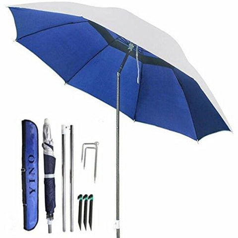 Yino Portable Sun Shade Umbrella Inclined Heat Insulation Antiultraviolet Function Commonly Used In Garden Beaches Fishing Essential