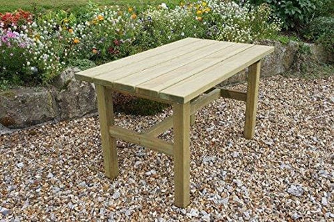 Zest4Leisure 5Ft Emily Garden Dining Table - Fsc Certified Pressure Treated Wood