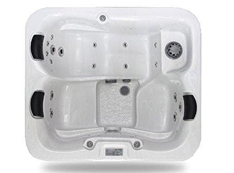 Zspas 3-4 Seater New Zeus Deluxe Hot Tub 32 Amp Balboa Approved By Hot Tub Suppliers (White 195 X 170 X 95 Cm)
