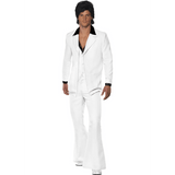 70's White Disco Fever Suit