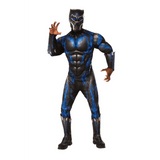 Adult Deluxe Muscle Chest Black Panther Battle Suit  XL
