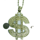 Gold Dolla Sign Necklace