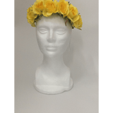Yellow Rose Crown Head Wrap